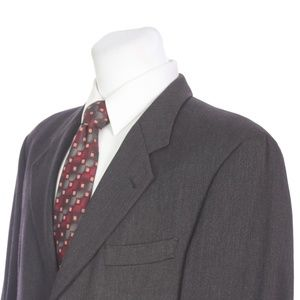 HUGO BOSS Half Canvas 3 Button Gray Sport Coat
